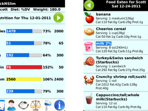 TrackNSlim for BlackBerry smartphones tracks and reports on your eating habits