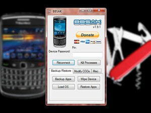 BlackBerry Swiss Army Knife - a program for advanced users