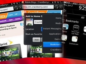 Make a customized folder for your BlackBerry bookmarks