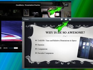 How to make great presentations with the BlackBerry PlayBook