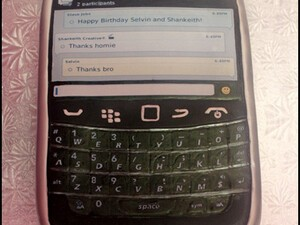 CrackBerry Idol's Shankeith BlackBerry Birthday Cake – It's a Bold 9900!