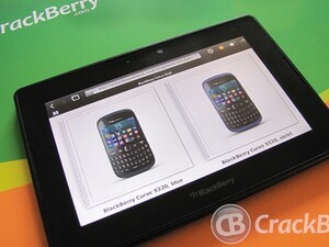 Vodafone UK introduce the BlackBerry Curve 9320 in two new colors - Vivid Violet and Classic Blue