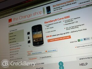 The BlackBerry Curve 9380 going cheap on Orange in the UK
