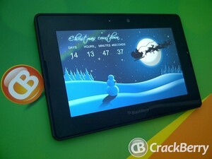 Get in the festive spirit with the Christmas Countdown app for the BlackBerry PlayBook