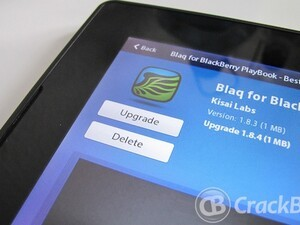 Blaq updated to version 1.8.4 for the BlackBerry PlayBook - A few tweaks and bug fixes