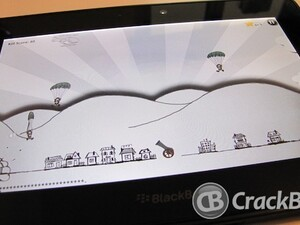 Save the town with Doodle Parachute for BlackBerry PlayBook