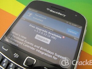 Facebook updated to version 3.2.0.12 for BlackBerry smartphones
