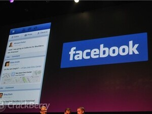 RIM demos official BlackBerry 10 Facebook app