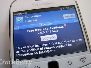 Foursquare updated to version 5.0.1 for BlackBerry smartphones