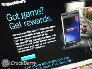 Any devs up for a 36 hour BlackBerry Got Game-Port-a-Thon?