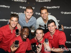 Limited edition Gold BlackBerry Bold 9900's given to South Africa's Olympic gold medal winners