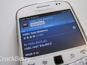 New HSBC Fast Balance app for BlackBerry Smartphones
