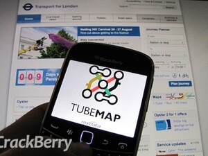 Coming to London? Get around the city with Tube Map for BlackBerry smartphones