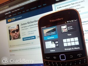 LinkedIn for BlackBerry smartphones updated to version 2.1