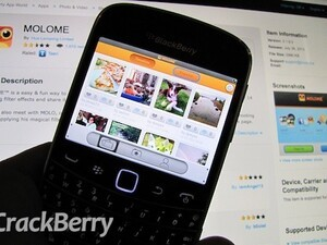Share and 'love' filtered photos with MOLOME for BlackBerry smartphones