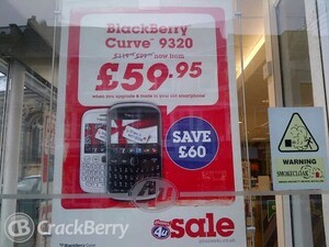 Phones 4U tempt UK consumers with a sweet BlackBerry Curve 9320 deal