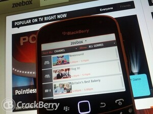 Get social in front of the TV with Zeebox for BlackBerry smartphones (UK Only)