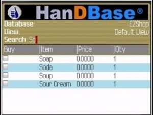 HanDBase Relational Database comes to BlackBerry