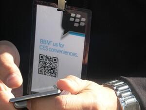 RIM shows the love at CES2012 through BBM