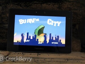 Create havoc and destruction on your PlayBook with Burn the city