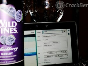 How to allow attendees in Google Calendar on BlackBerry PlayBook OS 2.0