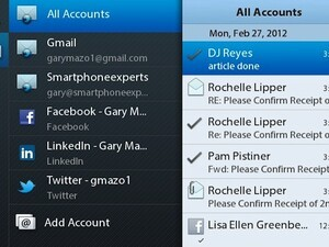 Messaging app for Playbook OS 2.0: Explanation of the Unified inbox