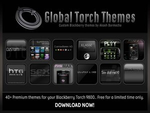 Global Torch Themes' entire catalogue FREE for a limited time for Torch 9800 owners