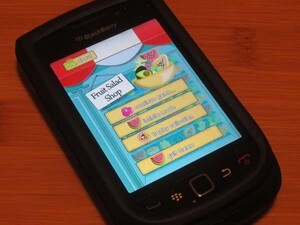 Challenge your memory with Fruit Salad Shop for the BlackBerry Torch 9800
