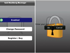 Lock BlackBerry Messenger - Password Protect your BBMs