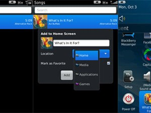 Quick Tip: How to add Music, Videos, and Pictures to your home screen on BlackBerry OS 7