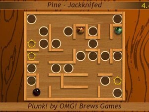 Plunk! - a fun and addictive labyrinth game for the BlackBerry PlayBook