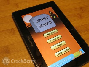 Have some Halloween fun with Spooky Search for the BlackBerry PlayBook