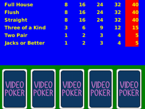 Video Poker for BlackBerry Smartphones updated to v2.0 - now with OS 7 support