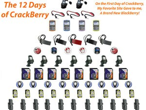 Win a New BlackBerry, Accessories and Software in the 12 Days of CrackBerry Holiday Giveaway!