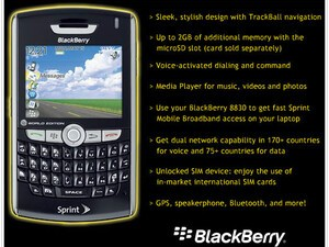 BlackBerry 8830 World Edition coming to Sprint