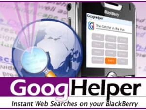 GoogHelper - Instant Web Searches on Your BlackBerry