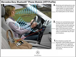 Mercedes-Benz Bluetooth (HFP) Telephone Module and BlackBerry