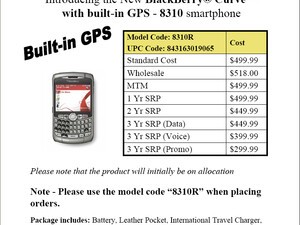 BlackBerry Rogers 8310r is HERE!!! Pricing and Specs...
