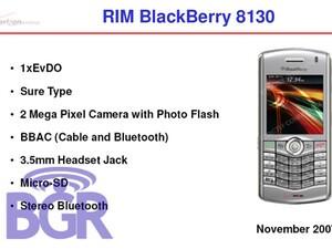 BlackBerry 8130 (Pearl 2) coming to Verizon in November