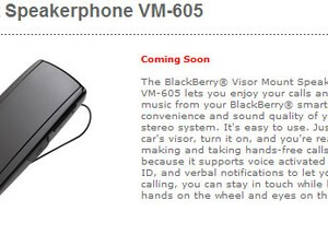 Coming Soon: BlackBerry Visor Mount Speakerphone VM-605