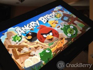 Angry Birds for the BlackBerry PlayBook updated to version 2.1 - New beach levels included