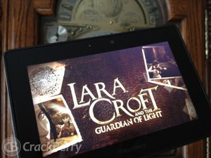 Battle the God of Darkness in Lara Croft and the Guardian of Light for the BlackBerry PlayBook