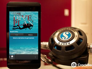 SCUBA dive deeper and safer with The Dive Plan for the BlackBerry Z10