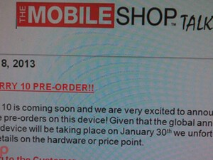 The Mobile Shop joins the growing list of Canadian retailers offering BlackBerry 10 preorders