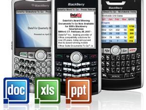DataViz Launches New Mobile Office Suite