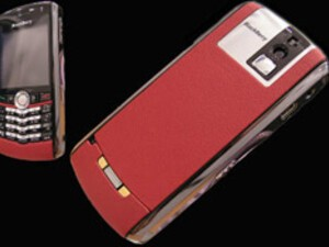Adorn Your BlackBerry Pearl in Rich Red Porsche Leather