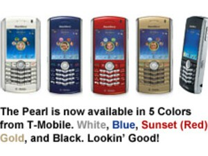 3 New BlackBerry Pearl Colors Available From T-Mobile