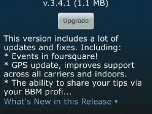 Foursquare updated to v3.4.1 - Now available in BlackBerry App World