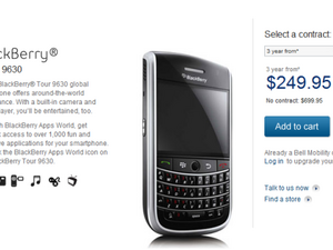 Attention Canadians: Bell Online Sales For BlackBerry Tour Go Live Ahead Of Telus!!