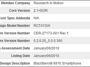 BlackBerry Curve 8910 Shows Up In Bluetooth Registration But What Is It?